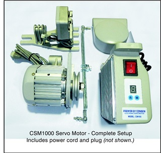 Consew industrial sewing machine motors and components for Industrial servo motor price